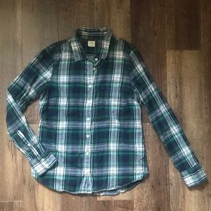 J. Crew Plaid Long Sleeve Shirt